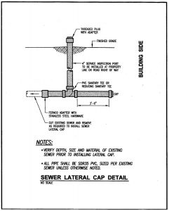 sewer cap lateral detail